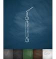 dental probe icon vector image vector image