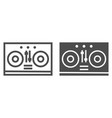 dj mixer line and glyph icon music and sound vector image vector image