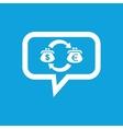 Dollar-euro exchange message icon vector image vector image