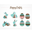 Easter cute patterned bunny vector image