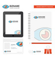 eye business logo tab app diary pvc employee card vector image vector image