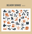 fast delivery logistic template in flat style vector image vector image
