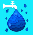 for poster do not waste water vector image