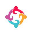 four entrepenurs teamwork people logo design vector image vector image
