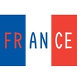 French flag and word France vector image