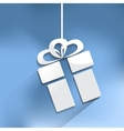 gift web icon vector image vector image