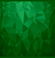 green polygonal background triangular pattern vector image vector image