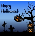Halloween postcard dark colors vector image