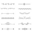 hand drawn dividers set vector image vector image