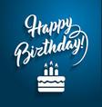 happy birthday greeting text vector image