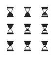 hourglass icon set vector image