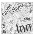 Inn on the River Word Cloud Concept vector image vector image