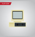 isolated pc flat icon computer element can vector image vector image
