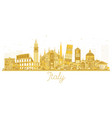 italy city skyline golden silhouette with vector image vector image