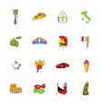 Italy set icons set cartoon