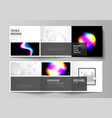layout of two square format covers design vector image vector image