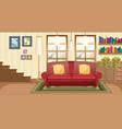 living room background scene vector image