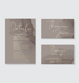 luxury soft decor dark grey wedding invitation vector image vector image