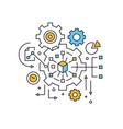 management project management vector image