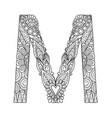 mandala letter m monogram vector image vector image