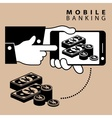 Mobile banking yen vector image