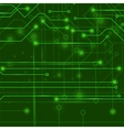 Modern Computer Technology Green Background vector image vector image