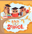 owl in branch back to school september autumn vector image vector image