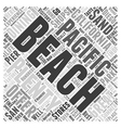 Pacific Beach San Diego Word Cloud Concept vector image vector image