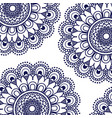 pattern dark blue of flowers mandala decorative vector image