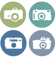 photo camera icons set in flat style vector image