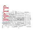 pptp word cloud concept vector image vector image