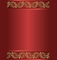 red background with golden ornament vector image