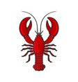 red lobster icon on white background vector image vector image