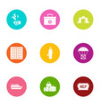 rescue icons set flat style vector image vector image