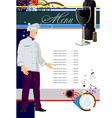 restaurant menu 001 vector image