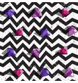 seamless zig zag pattern with half transparent vector image vector image