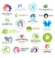 set beauty and cosmetics concept icons vector image