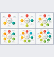 set circle chart templates with 3 4 5 6 7 8 vector image vector image