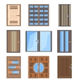 Set isolated combined doors vector image vector image