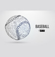 silhouette of a baseball ball vector image vector image