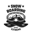 snowboarding winter extreme sport emblem vector image vector image