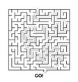 square maze puzzle vector image
