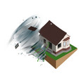 strong wind hurricane ripped off roof of house vector image