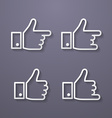 Thumbs up icon set Flat style vector image vector image
