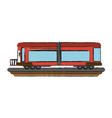 train carriage isolated vector image vector image