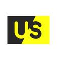 us logo monogram vector image vector image