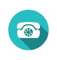 web icon retro telephone trendy flat minimal vector image