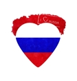 Heart in national colours of Russia vector image
