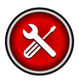 Setting black icon vector image