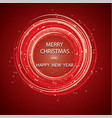 christmas greeting card light background vector image